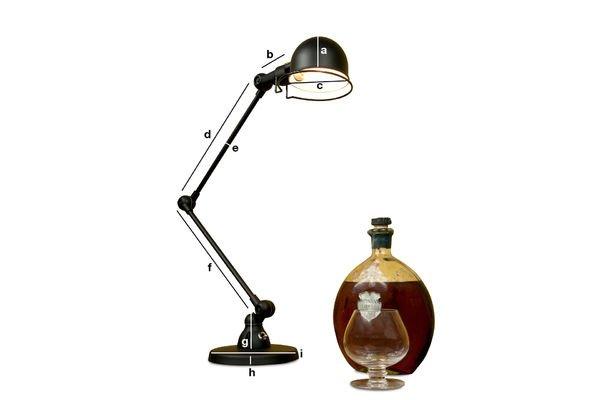 product dimensions jielde signal desk lamp