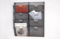 Wire-mesh wall mount magazine rack - A vintage touch | pib