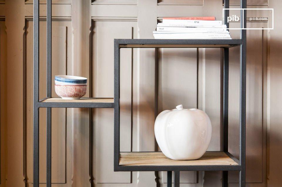 Yordn boekenkast  Elegante planken van hout  metaal  pib