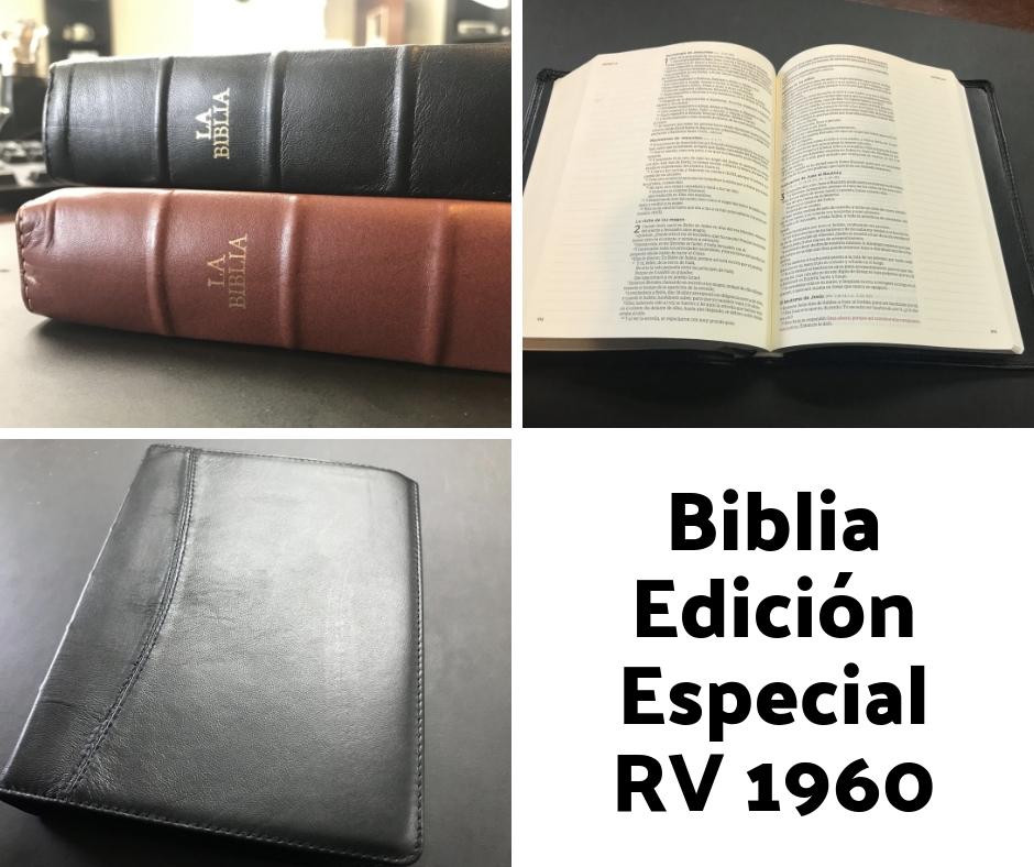 Tenemos una Biblia edición especial RVR1960 de piel genuina con margen ancho en cada página para notas. Cada pastor que registre más de 10 adultos o jóvenes pagados recibirá una gratis.