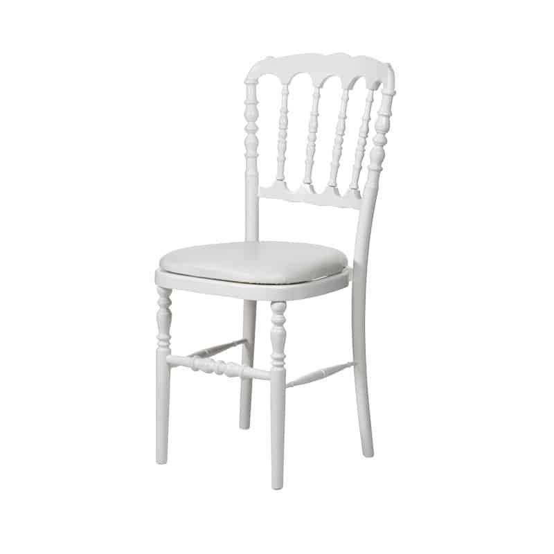 chaise napoleon iii blanche bois