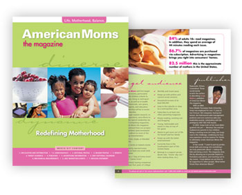 Magazine Media Kit Design: American Moms