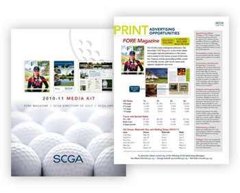 Magazine Media Kit Design: Southern California Golf Association