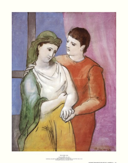 Lovers by Pablo Picasso art print