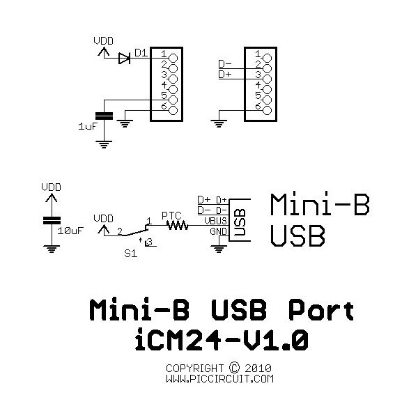 usb port circuit board