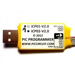 Pickit 2 Programmer Circuit Diagram Hydrogen Bond Icp02 - Usb Microchip Pic (3.3v/5.0v, With Icsp & 2)