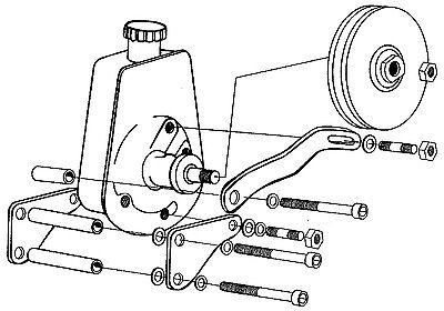 283 327 350 383 406 Chevy Smallblock Power Steering Pump