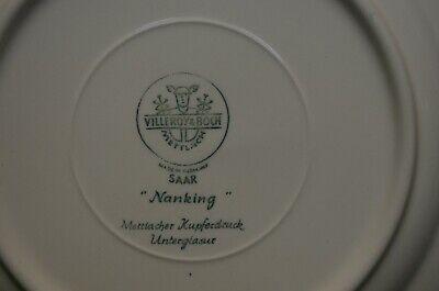 ancien service 10 assiette plate villeroy et boch saar nanking