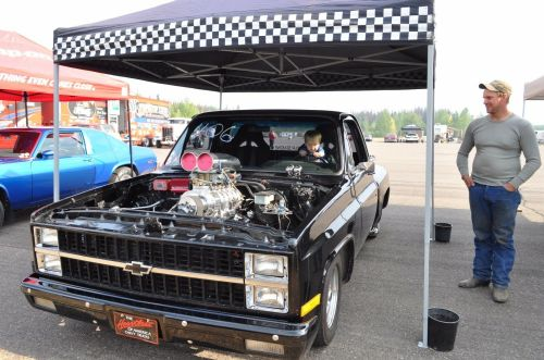 small resolution of 73 87 chevy truck 73 91 blazer 2 row dr radiator 19 x 28 1 4 core fan shroud 2 2 of 12