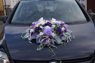 AUTODEKO BRAUT Auto Deko Blumen Tauben Hochzeitauto Kunstblumen Autoschmuck LA60  EUR 7400