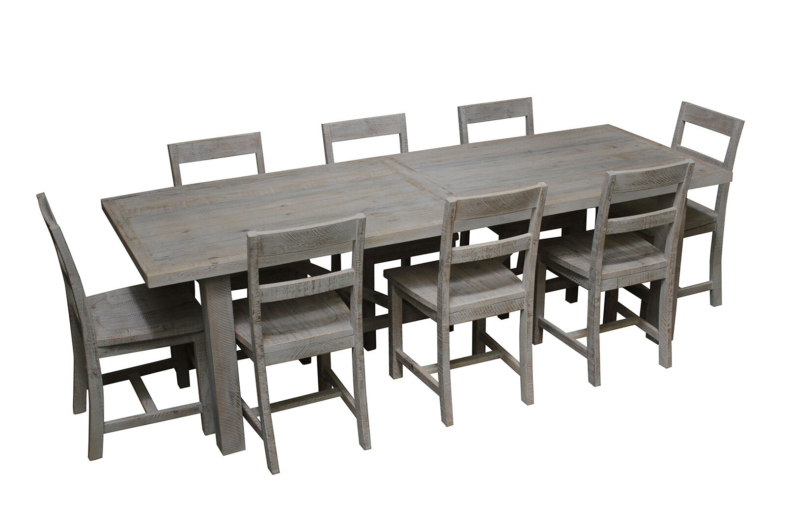 industrial dining table and chairs chair cover rentals brandon mb white 8 seater rustic