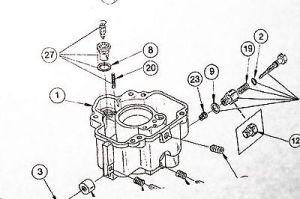 CARBURETOR Kit & Diagram LUA7 WA22 fits Onan 1460230D 65