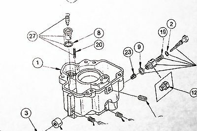 CARBURETOR KIT & Diagram LUA7 fits Onan 146-0230D 6.5 NH 4