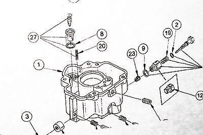 CARBURETOR KIT & Diagram LUA7 fits Onan 146-0230D 6.5 NH 4
