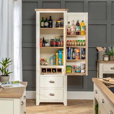 Cheshire Cream Painted Kitchen Large Single Larder Pantry Cupboard Ww61 699 00 Picclick Uk