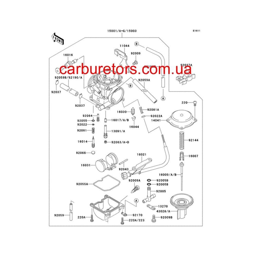 CARBURETOR KEIHIN CVK 34, manual choke plunger. New