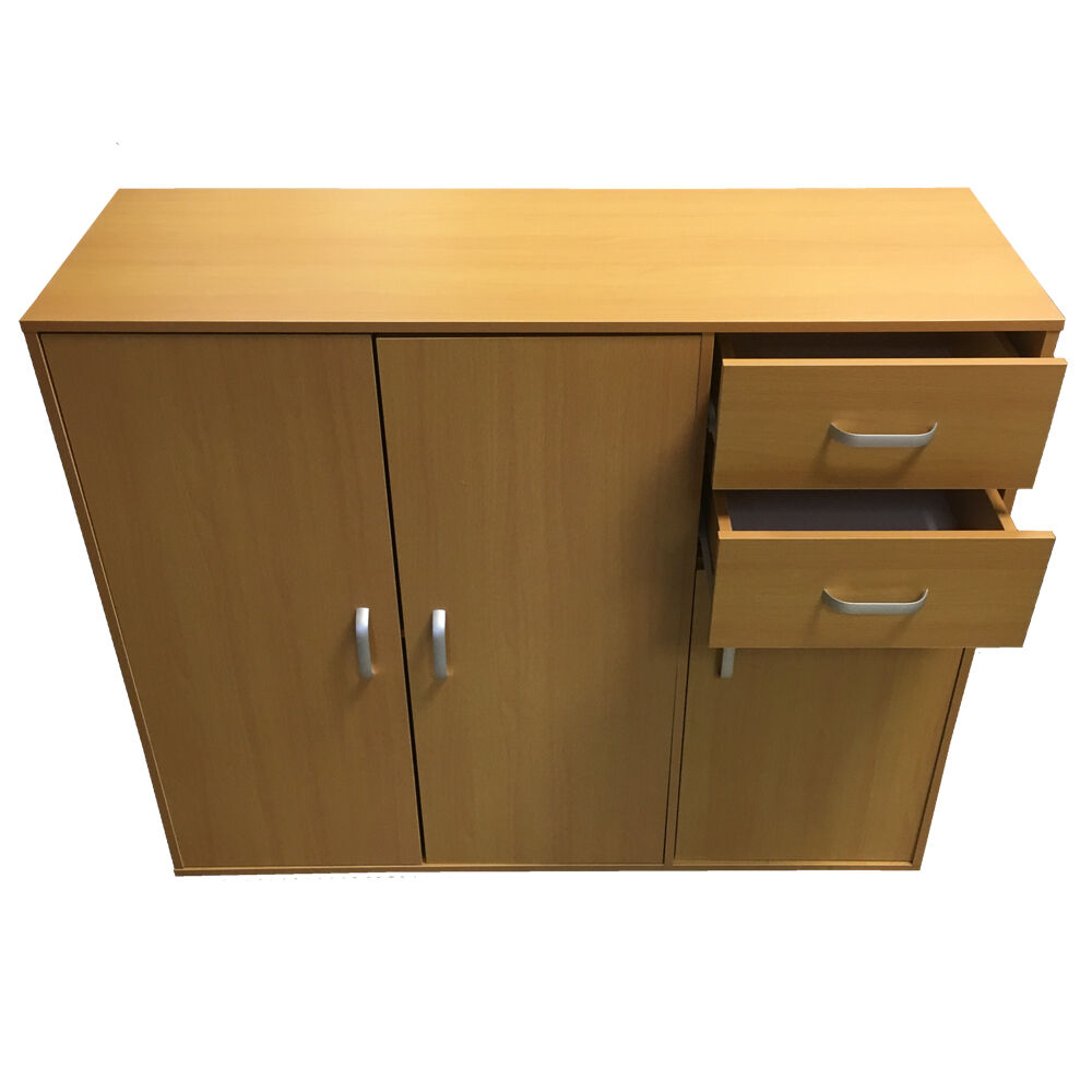 Sideboard Black White Beech Dark Walnut Storage Cabinet