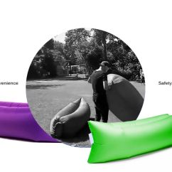 Inflatable Chair Canada Wedding Covers Warrington Lazy Air Lounger Sleeping Camping Bed