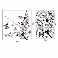 Tree+Butterflies Removable Wall Stickers DIY Vinyl Art ...