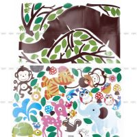 Animals Tree Monkey Owl Removable Wall Decal Sticker Kid ...