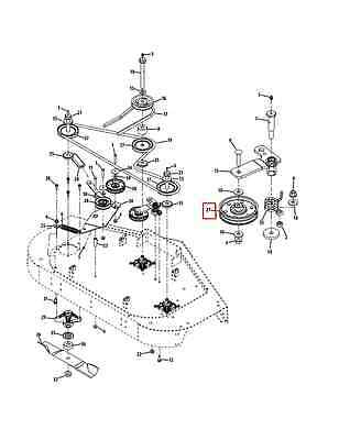 CUB CADET ZERO Turn Mower Z Force & Tank Deck Pulley 44