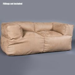 Two Person Bean Bag Chair Heavy Duty Plastic Adirondack Chairs Luxury 2 Sofa Couch Cover Indoor Loveseat