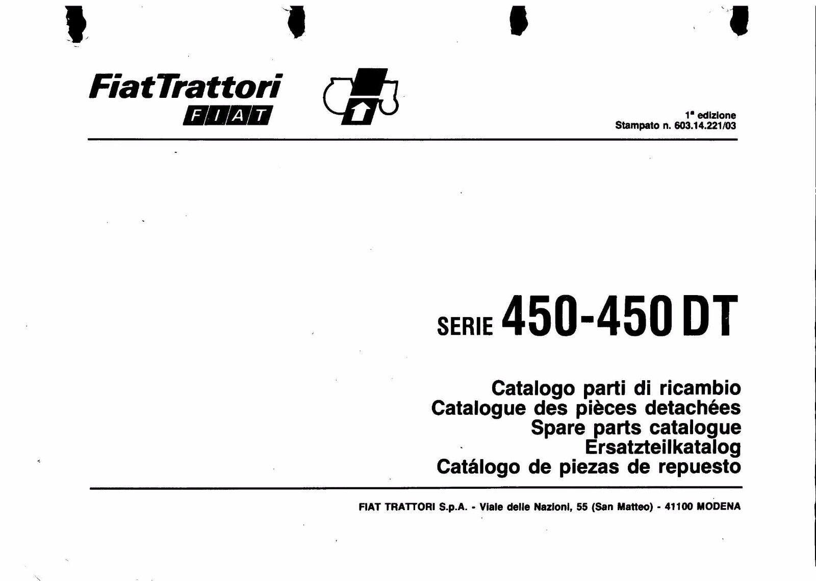 FIAT 450, 450 Special, 450 DT Special Workshop Operator