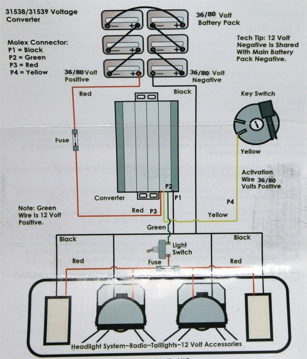 hight resolution of 36 volt melex wiring diagram 48 volt to 12 volt reducer diagram club car