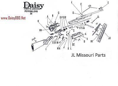 DAISY POWERLINE 880 881 35 7880 Trigger Sear Metal Pin Rod