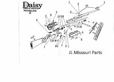 DAISY POWERLINE 922 880 881 Part Pump Piston Small O Ring