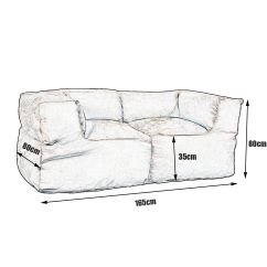 Two Person Bean Bag Chair King Com Luxury 2 Sofa Couch Cover Indoor Loveseat