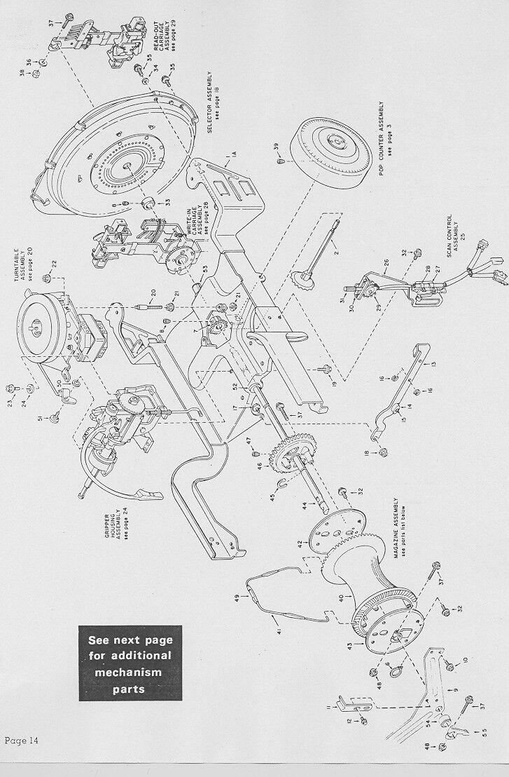 ROCK-OLA JUKEBOX OWNER Repair Service Manual & schematics