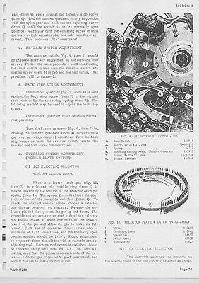 WURLITZER JUKEBOX Repair Service Manual & schematics 300