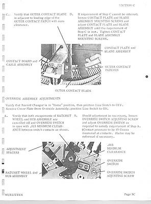 WURLITZER JUKEBOX Repair Service Manual & schematics 300