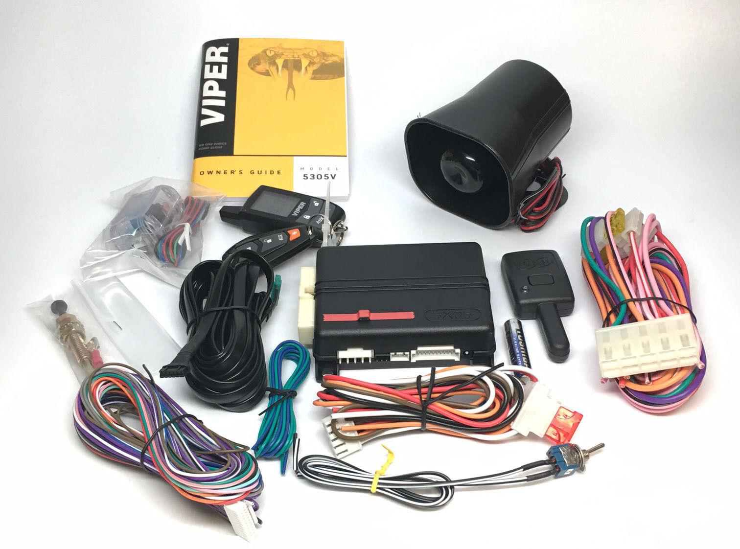 viper 5305v car alarm vdo volt gauge wiring diagram and remote starter 2 way lcd