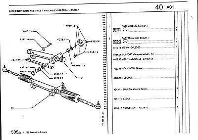 FLECTOR/SEPTOR DE DIRECTION Peugeot 104 203 204 304 403