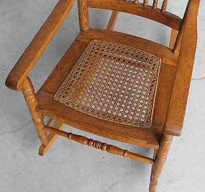rocking chair cane white round table and 4 chairs antique oak youth rocker seat 395 00 picclick of 6