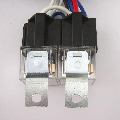 small resolution of 4 headlight relay wiring harness h4 headlamp light bulb ceramic socket plugs set 2 2 of 12