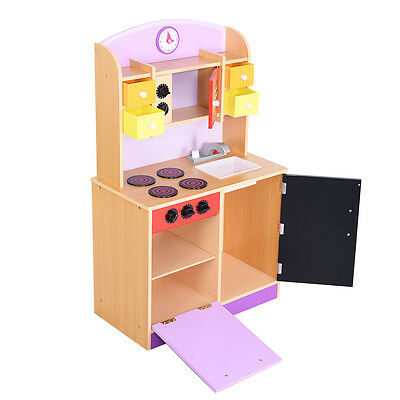 wood kitchen playsets how to build an outdoor plans toy kids cooking pretend play set toddler wooden 1 of 6free shipping playset new