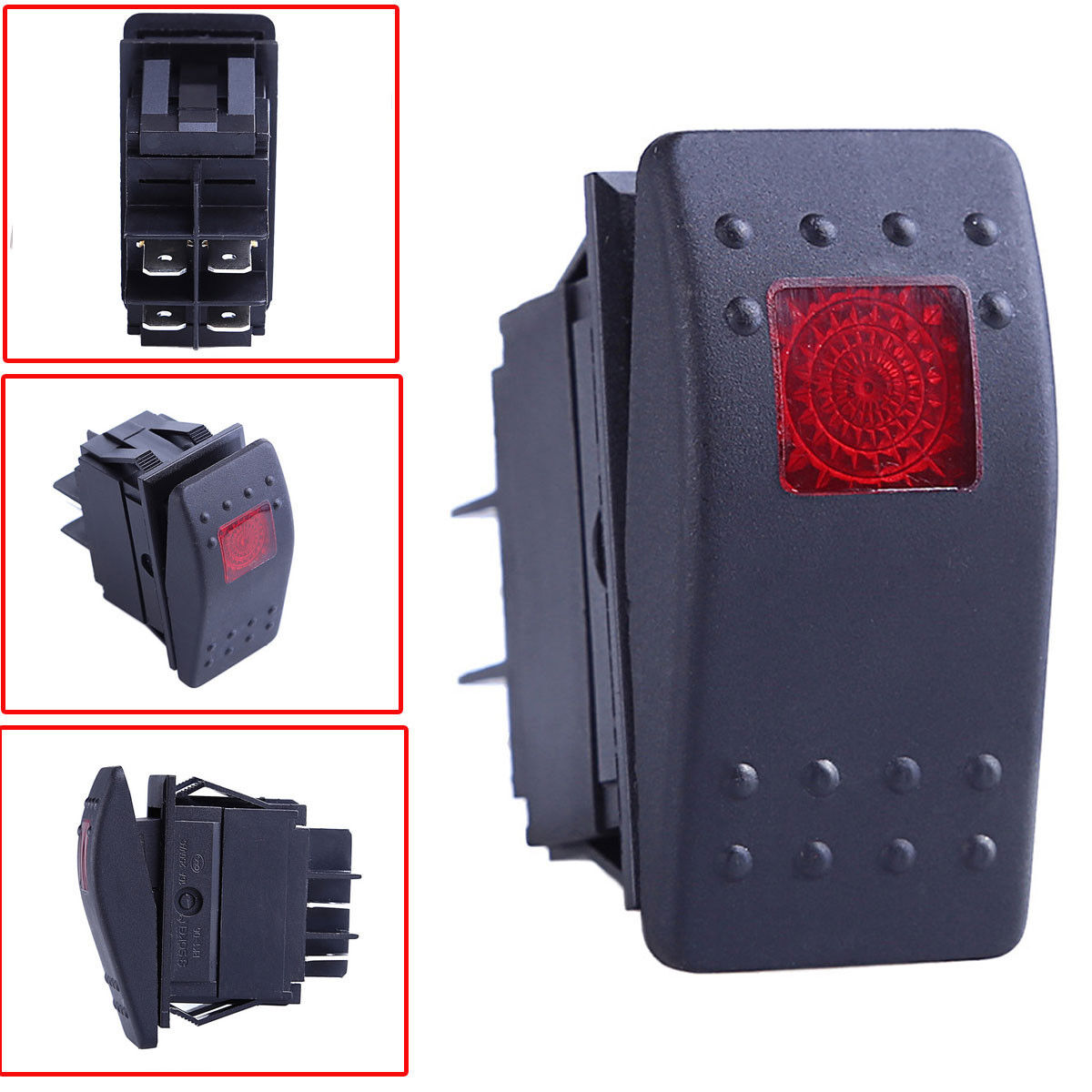 illuminated marine rocker switches 2001 nissan xterra stereo wiring diagram 5x12v led on off 4pin waterproof switch