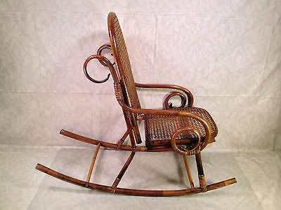 childs rattan chair gentle yoga vintage and bamboo bentwood rocker 96 85 1 of 10