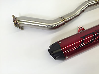 dasa red black full exhaust system