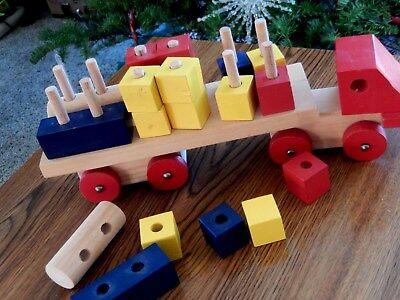 ikea jouet en bois camion avec blocs fabrique en suede 13 longueur 22 pieces