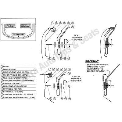 1990-2005 MAZDA MIATA Convertible Soft Top Replacement