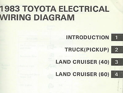 1983 toyota pickup truck electrical wiring diagram repair