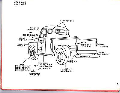 dodge truck parts diagram wiring for thermostat to furnace 1948 1949 1950 1 2 3 4 ton exterior body of 2free shipping