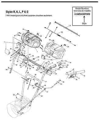 MTD YARDWORKS Snow Thrower Operators Manual With Parts
