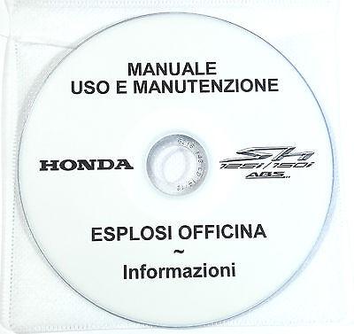 Cd Manuale Uso Manutenzione+Esplosi Officina Honda Sh 125