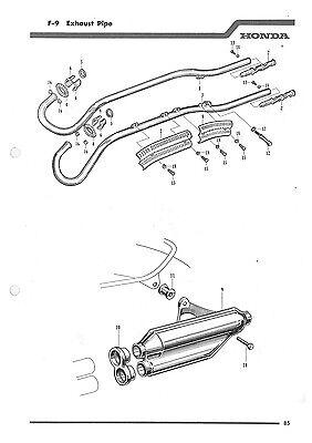 HONDA PARTS MANUAL CL72 & CL77 1962 1963 1964 1965 1966