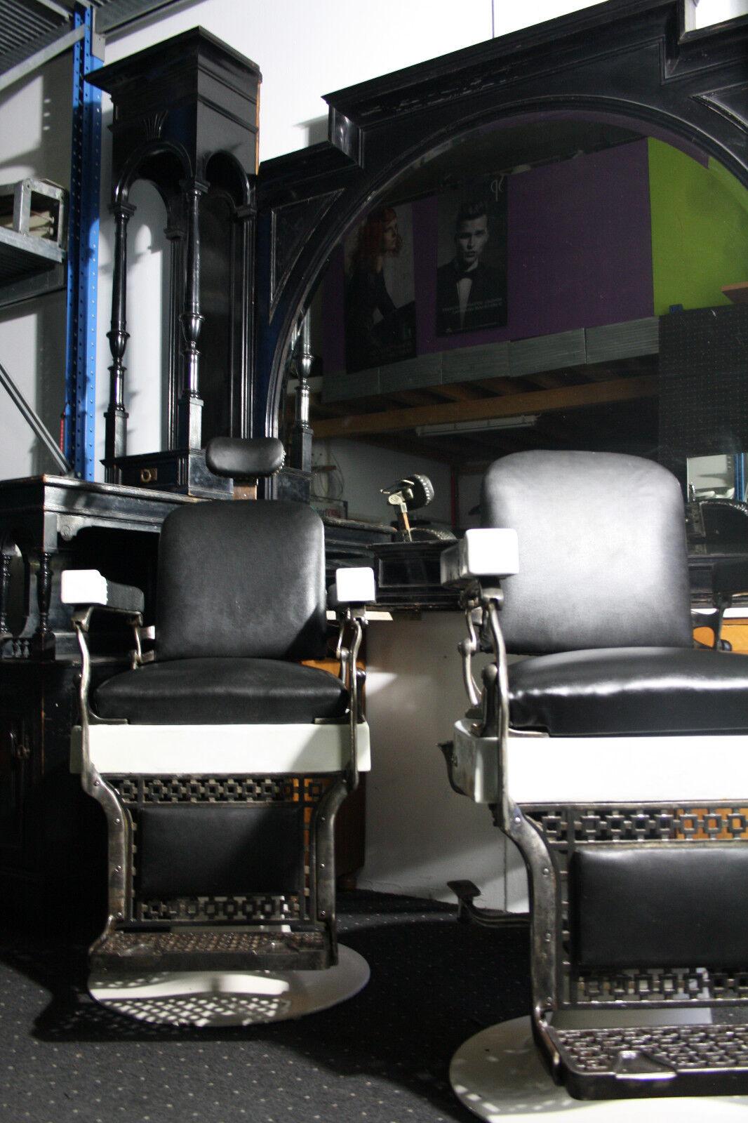 belmont barber chair parts canada kitchen cushions walmart friseur einrichtung koken antik shop jugendstil